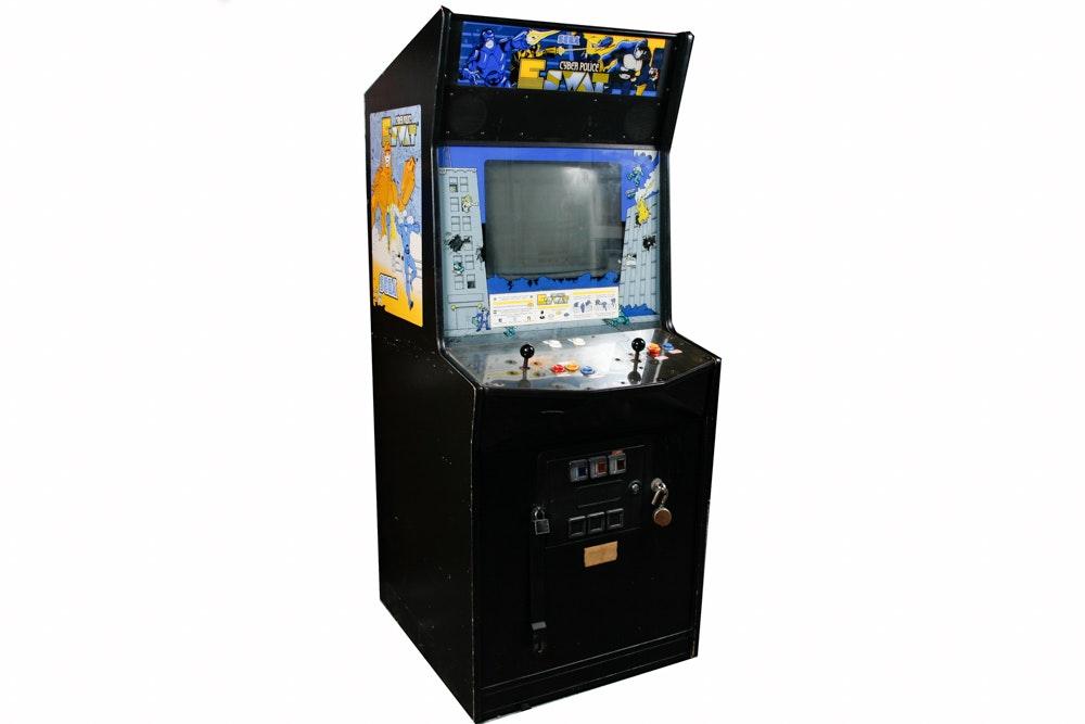 "Sega ""Cyber Police E Swat"" Arcade Game"