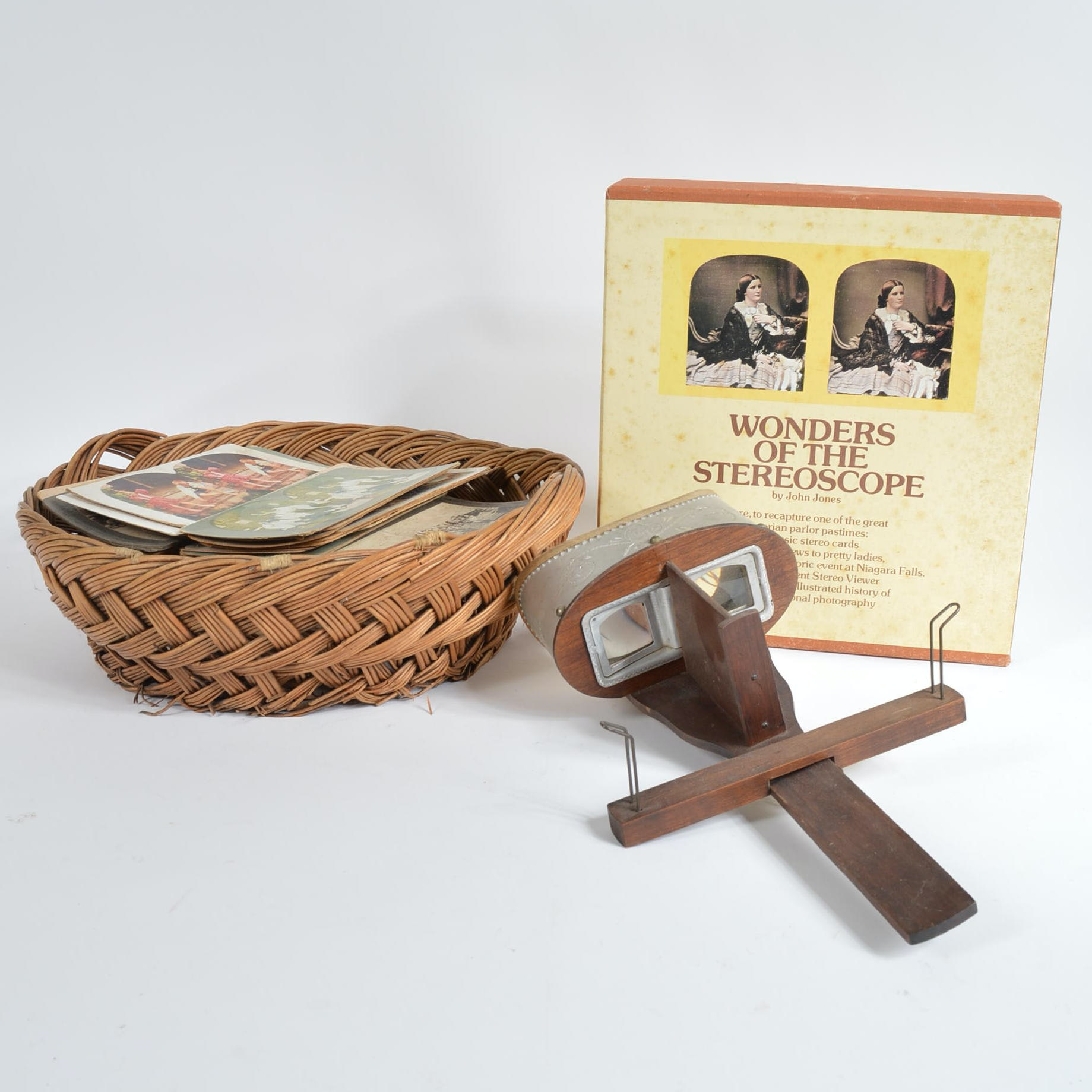 Monarch Stereoscope with Cards and Book