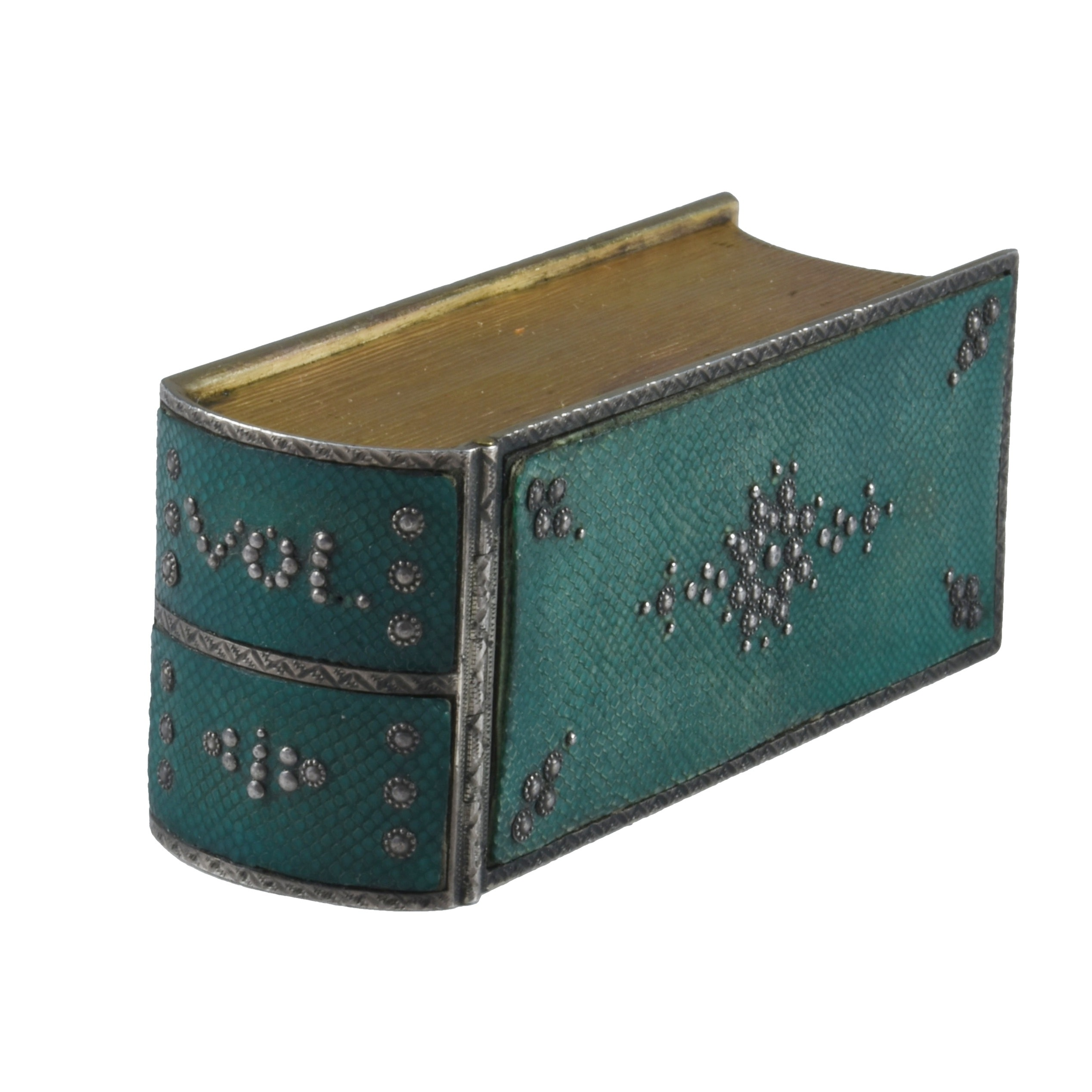 18th c. French Shagreen Traveling Writing Necessaire in Book Form