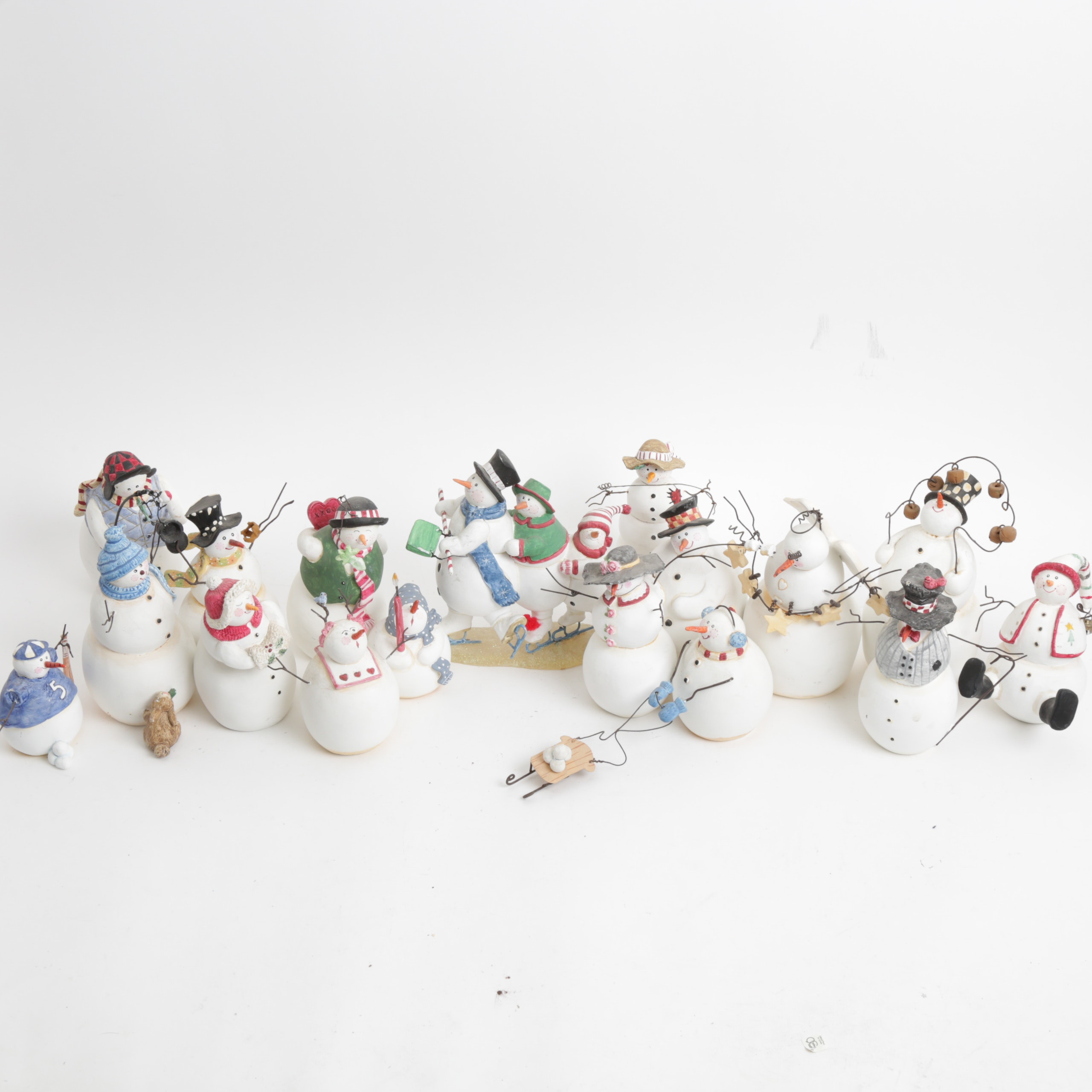 """Collection of Sandi Gore Evans """"Frosty Follies"""" Figurines"""
