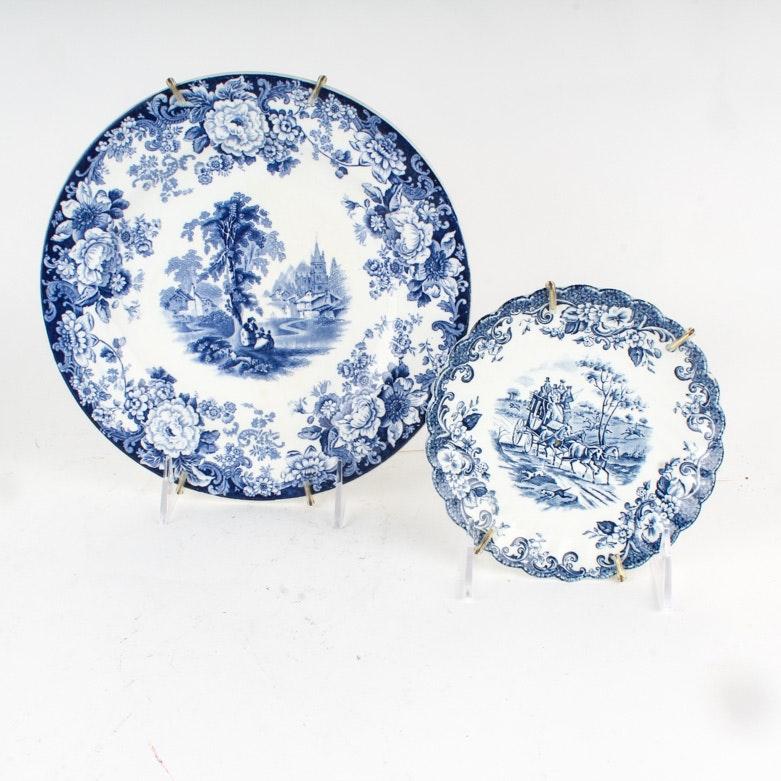 Two English China Plates