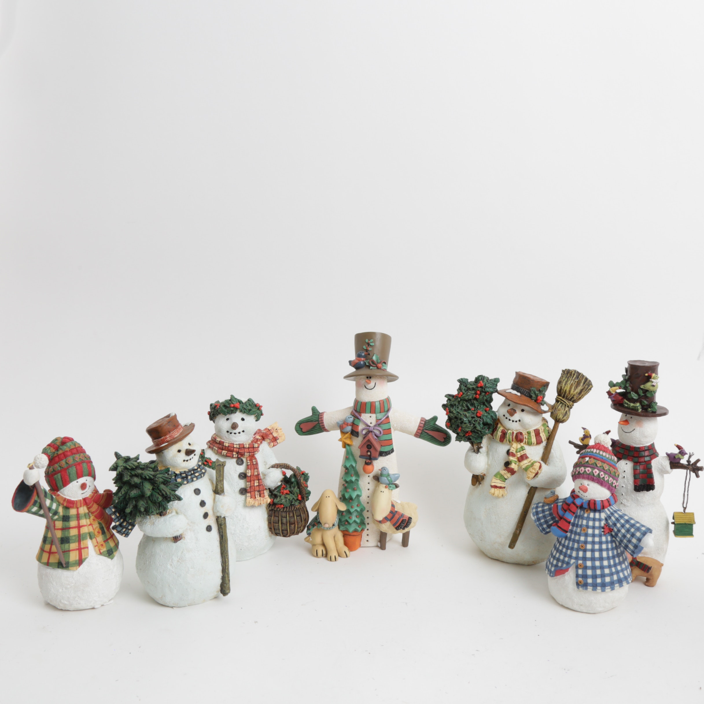 Set of Lang and Wise Snowman Collectibles