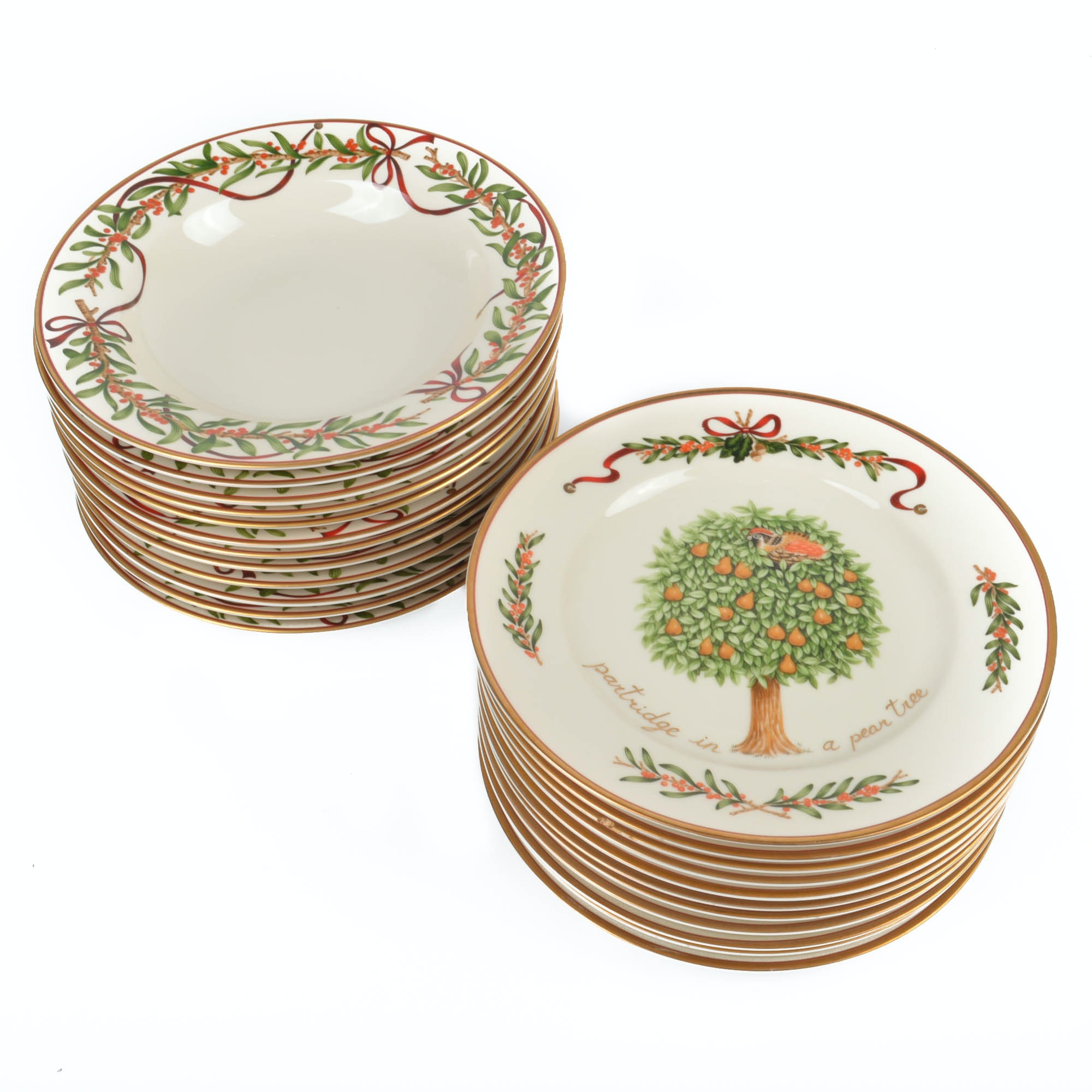"""Queensberry by Royal Gallery Holiday Dishes and """"Twelve Days of Christmas"""" Plates"""