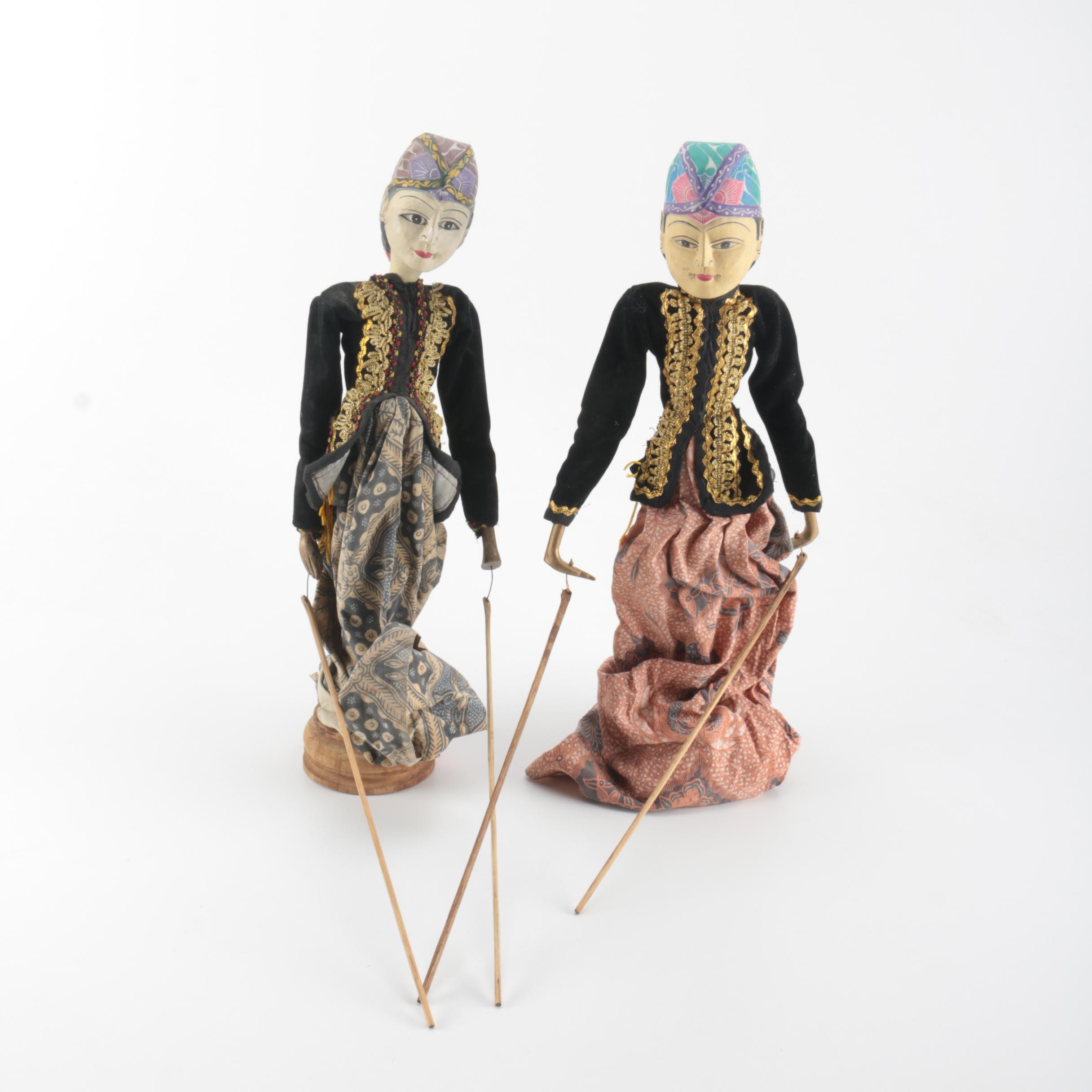 Pair of Asian Puppets