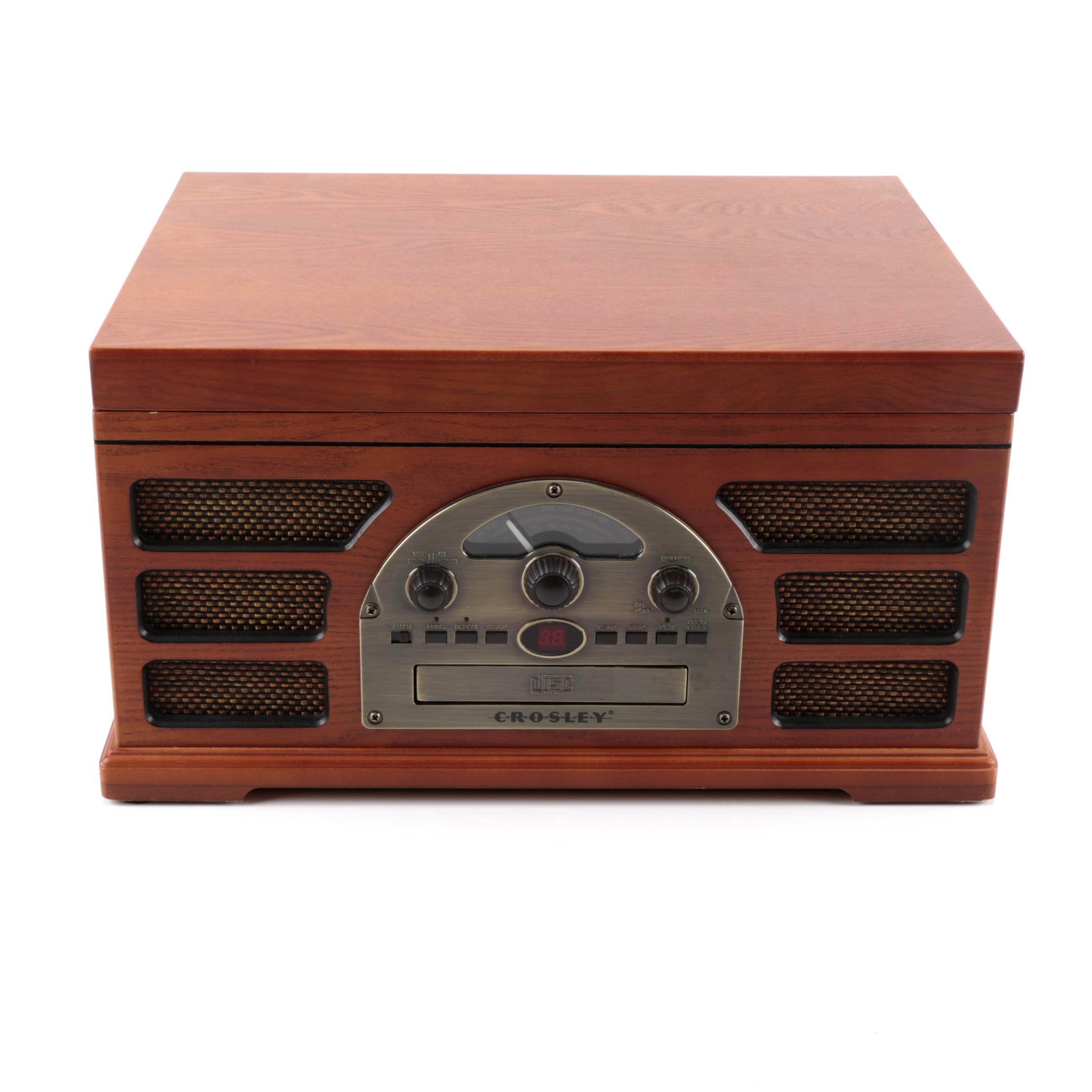 Crosley Rochester Vintage-Style Audio Entertainment Center