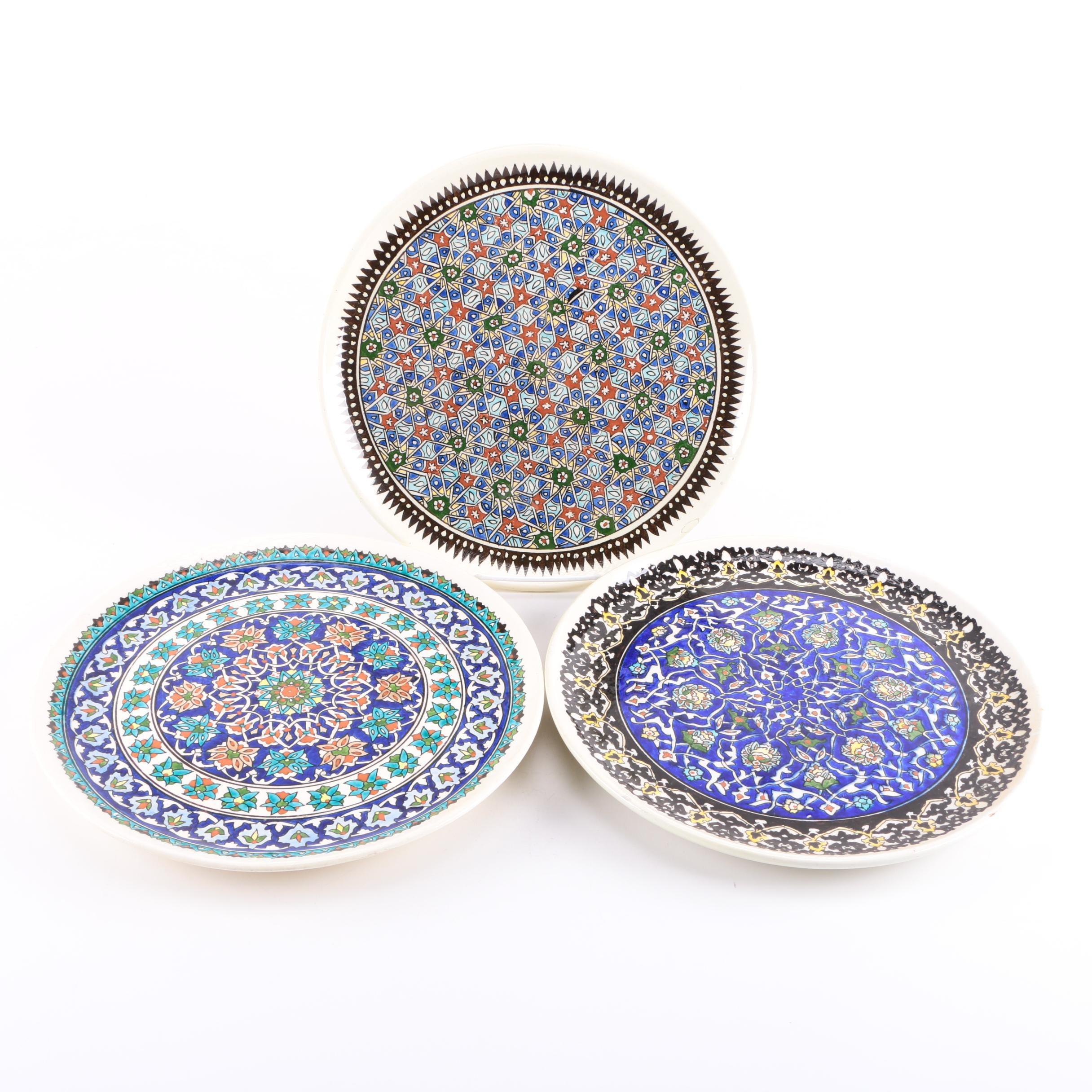 Guven Cini Turkish Hand-Painted Kutahya Pottery Decorative Plates ...  sc 1 st  EBTH.com & Guven Cini Turkish Hand-Painted Kutahya Pottery Decorative Plates : EBTH