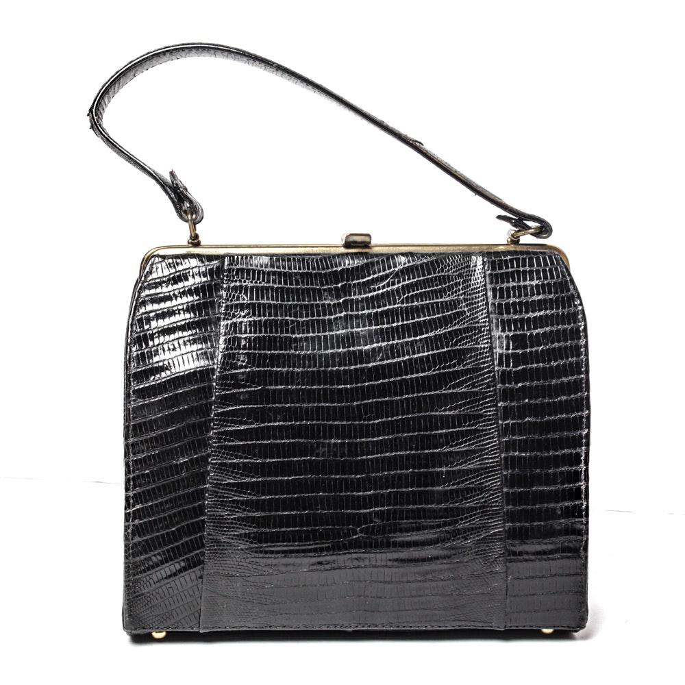 Alligator Skin Vintage Handbag