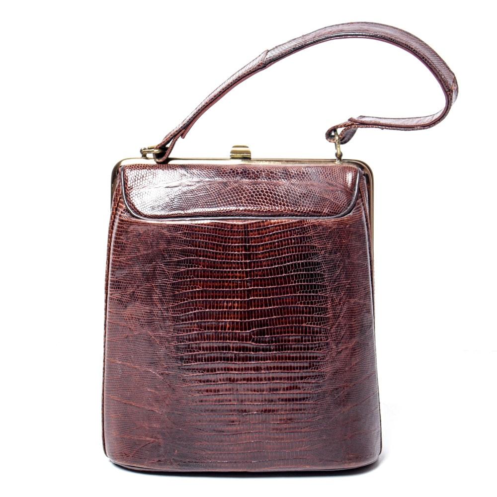 Alligator Skin Handbag by Bass
