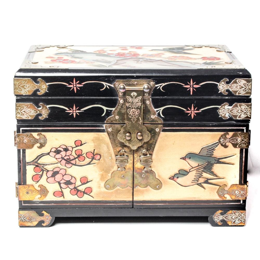 Lacquerware Jewelry Box