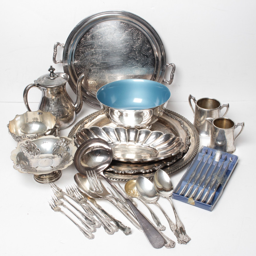 Silver Plate Assortment Featuring Reed & Barton, William Rogers, Sheffield and More
