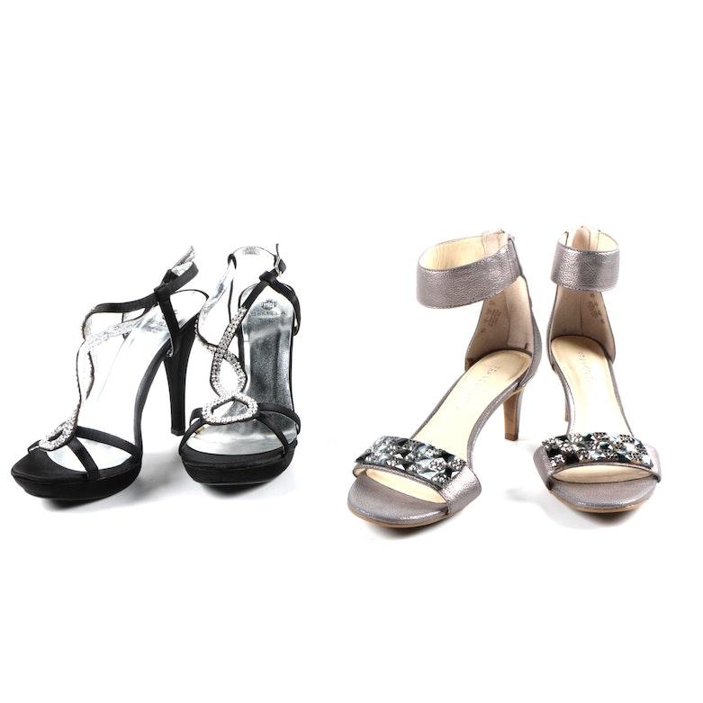 9ec8f5877b52 Semilla and Franco Sarto Women s Strappy Heels   EBTH