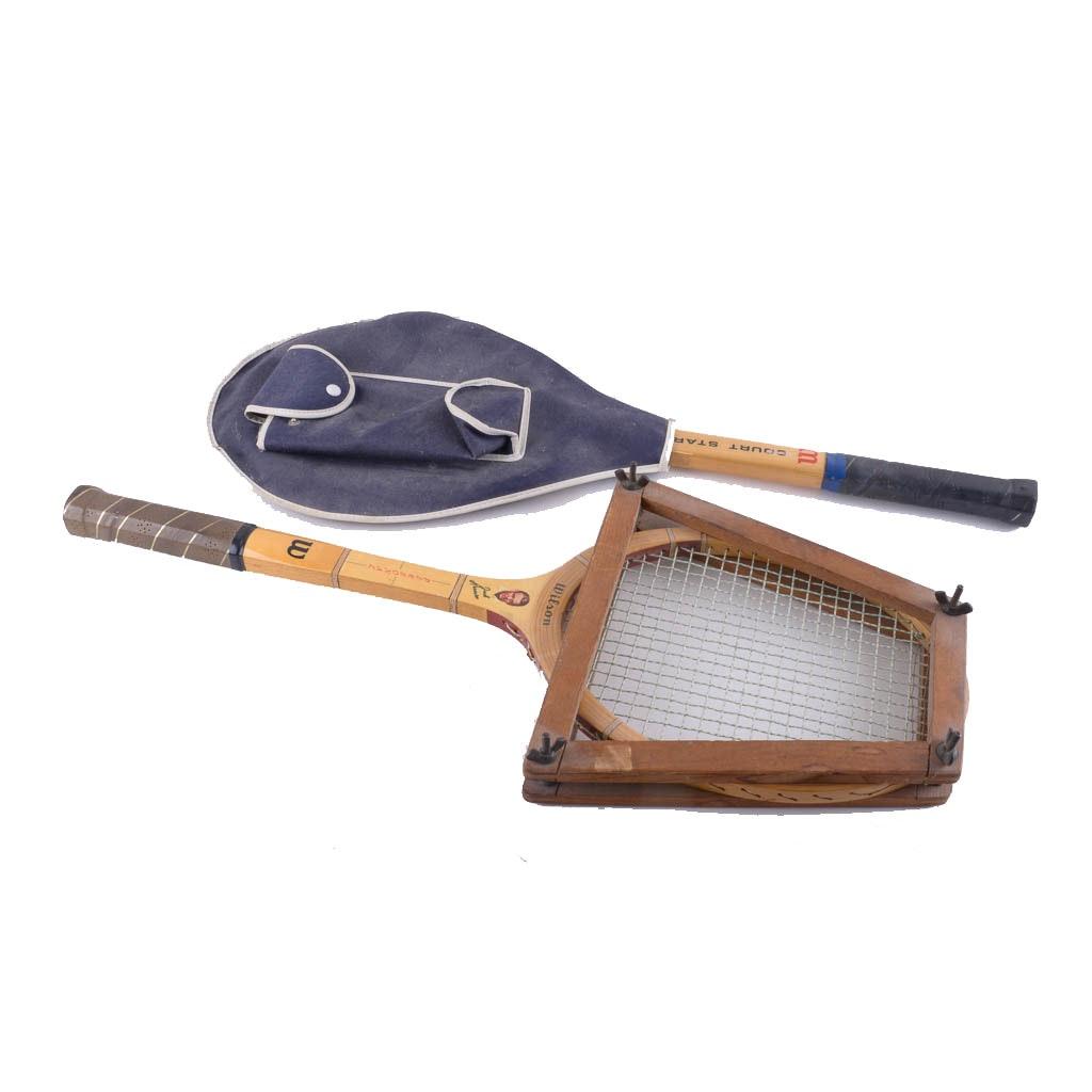 Pair of Vintage Wilson Tennis Racquets