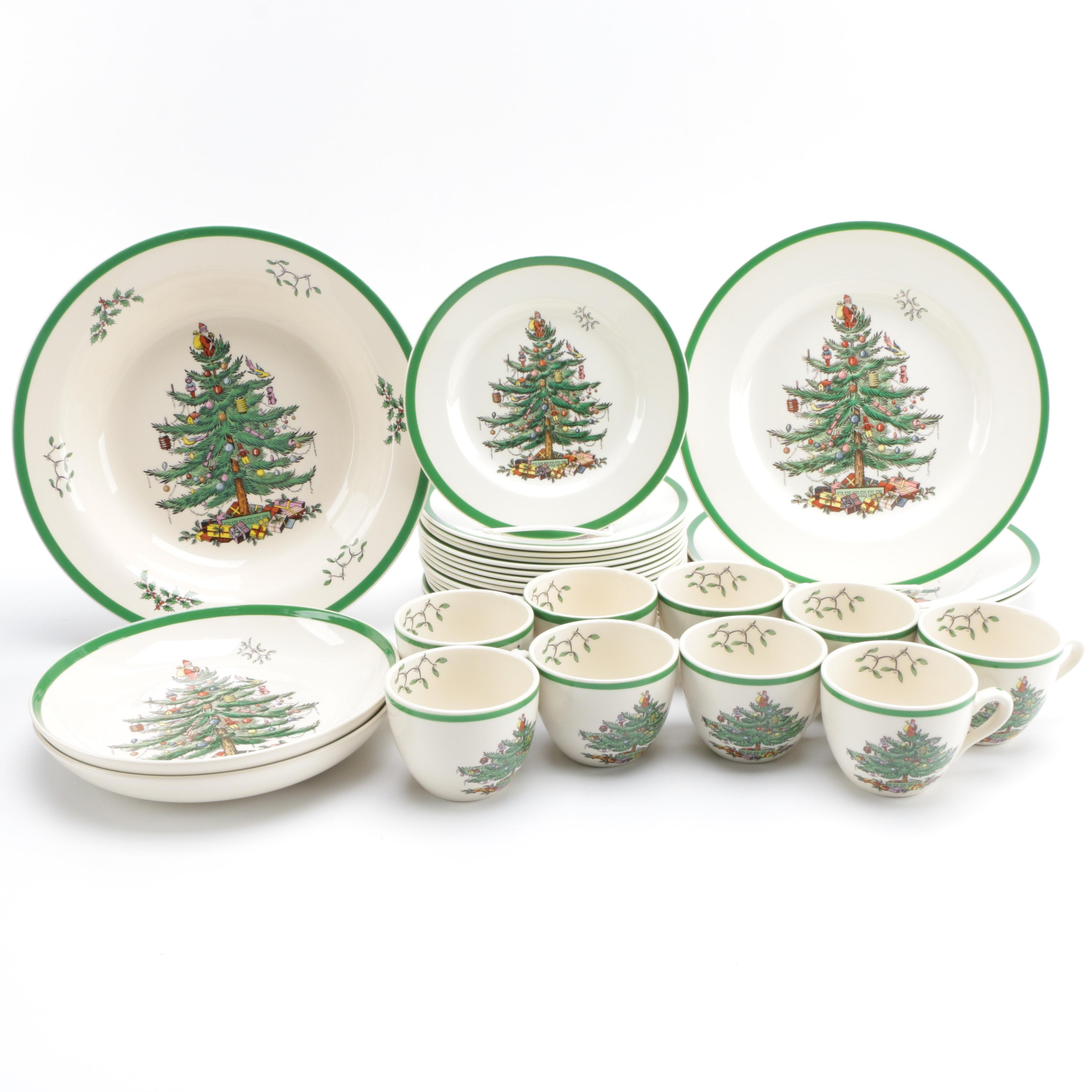Collection of Spode Christmas Tree Tableware