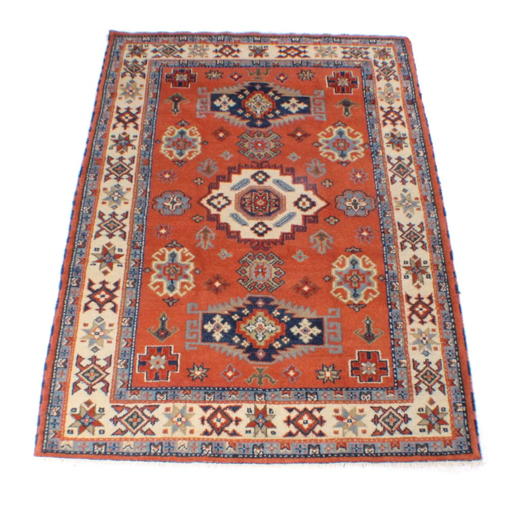 Hand-Knotted Indo Caucasian Kazak Rug