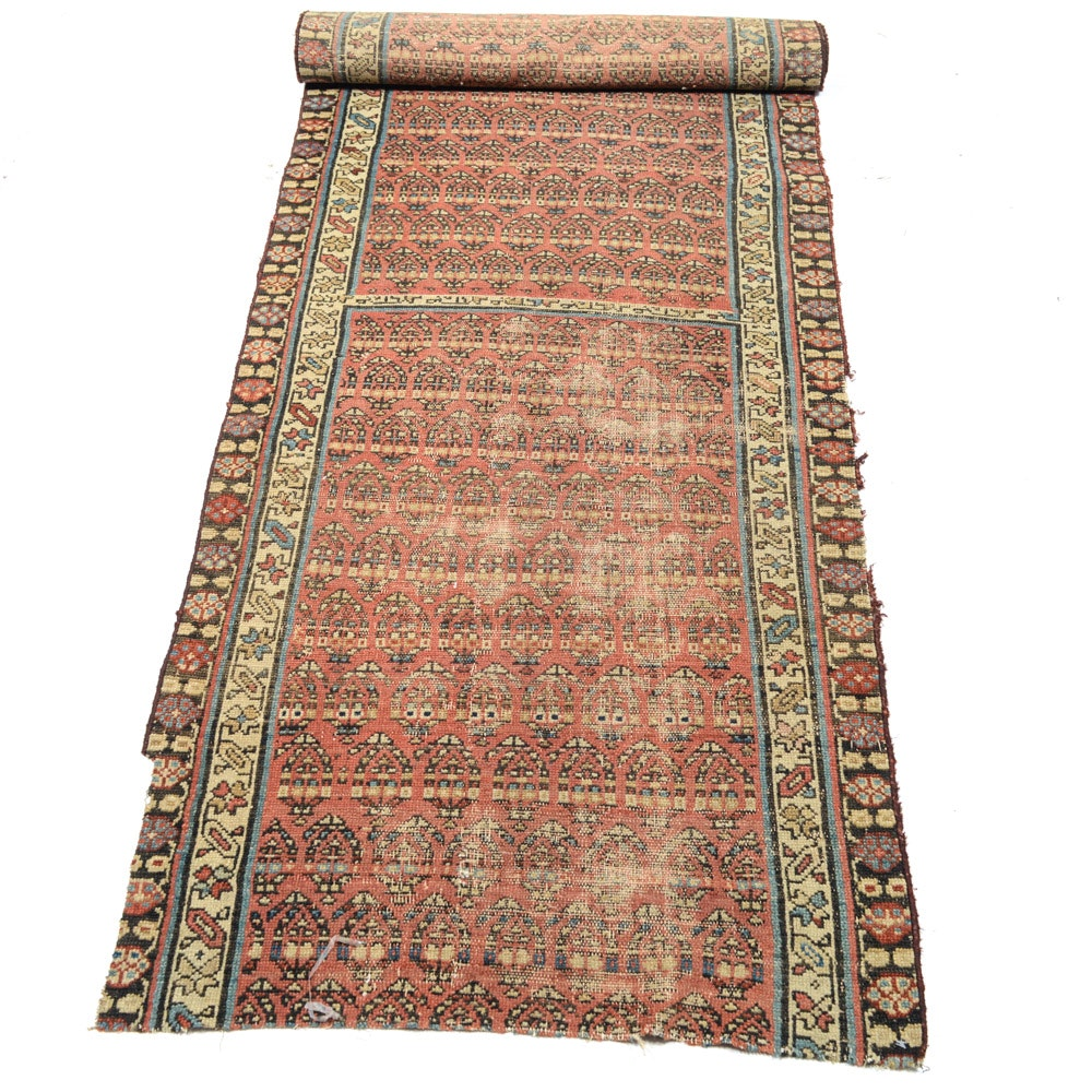 Antique Hand Knotted Persian Malayer Runner