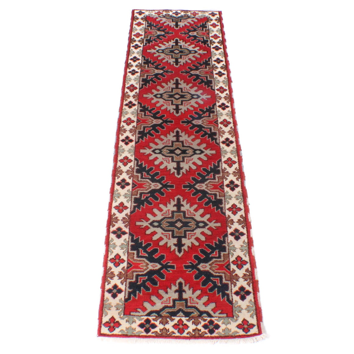 Hand-Knotted Indo-Caucasian Rug Runner