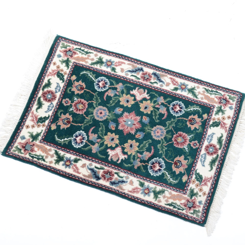 Hand Knotted Indo-Persian Tabriz Accent Rug