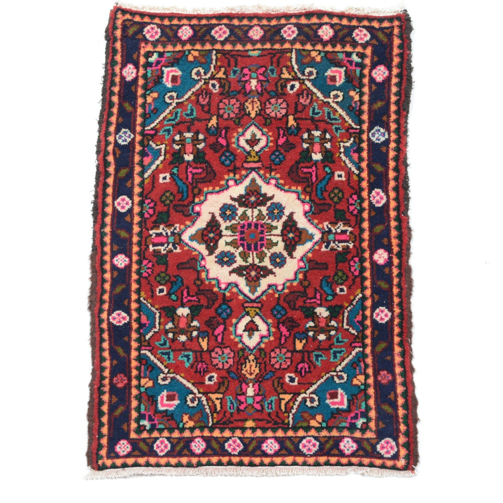 Hand Knotted Persian Nahavand Accent Rug
