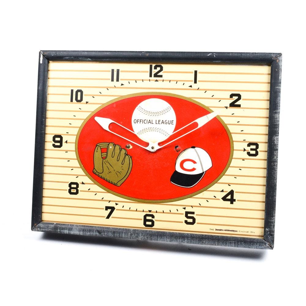 Vintage Cincinnati Reds Wall Clock