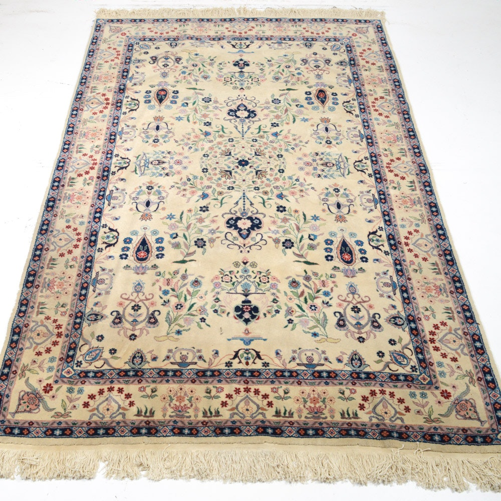 Vintage Hand Knotted Sino-Persian Tabriz Area Rug