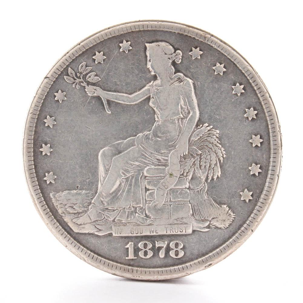 1878-S Trade Silver Dollar