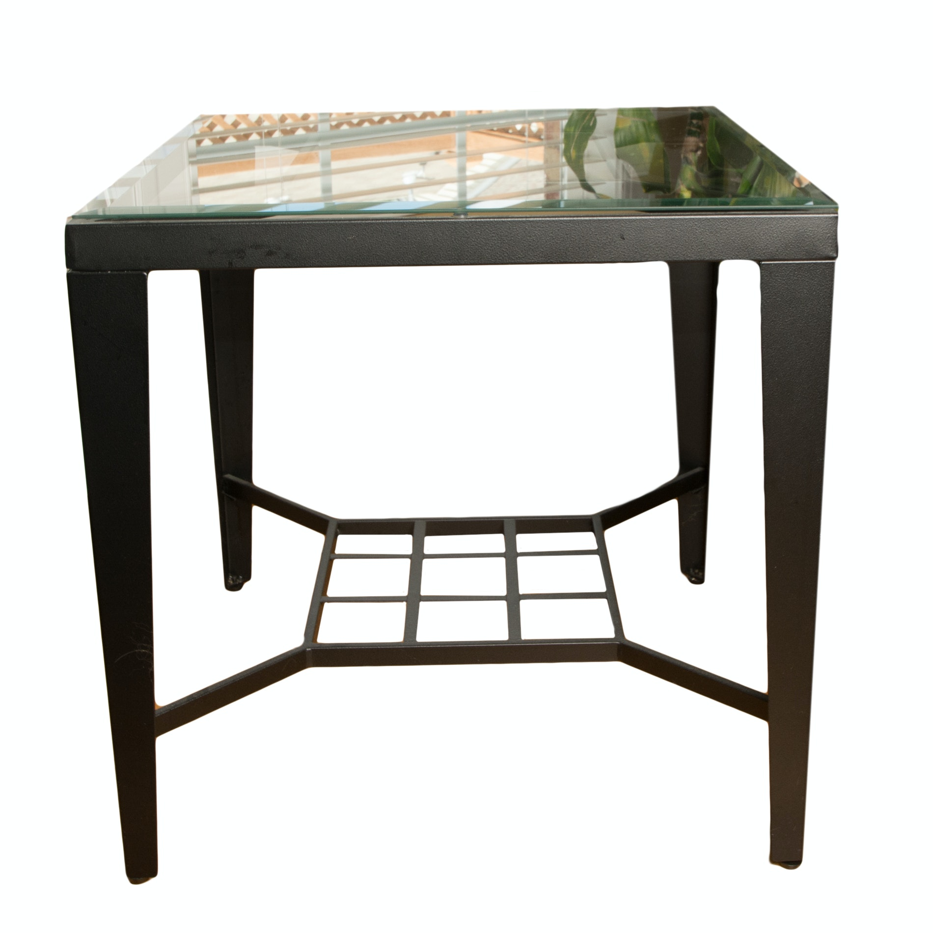 Metal and Stone Side Table
