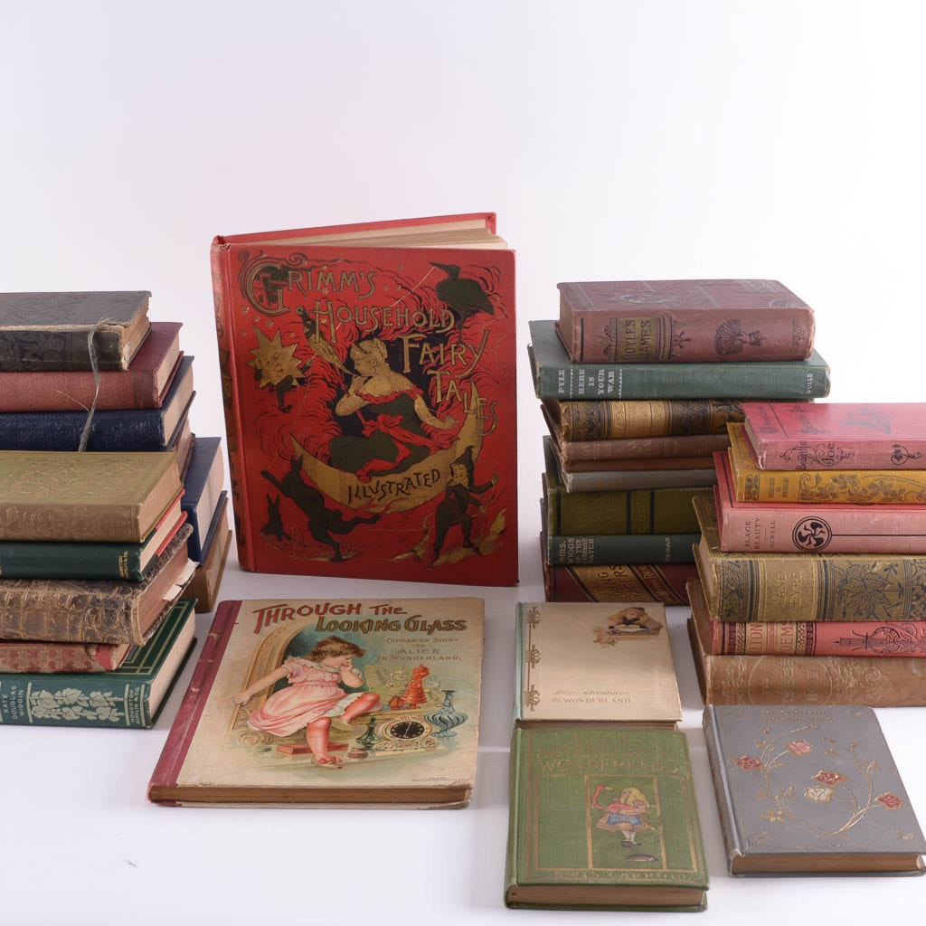 Collection of Antique and Vintage Fiction and Poetry Books