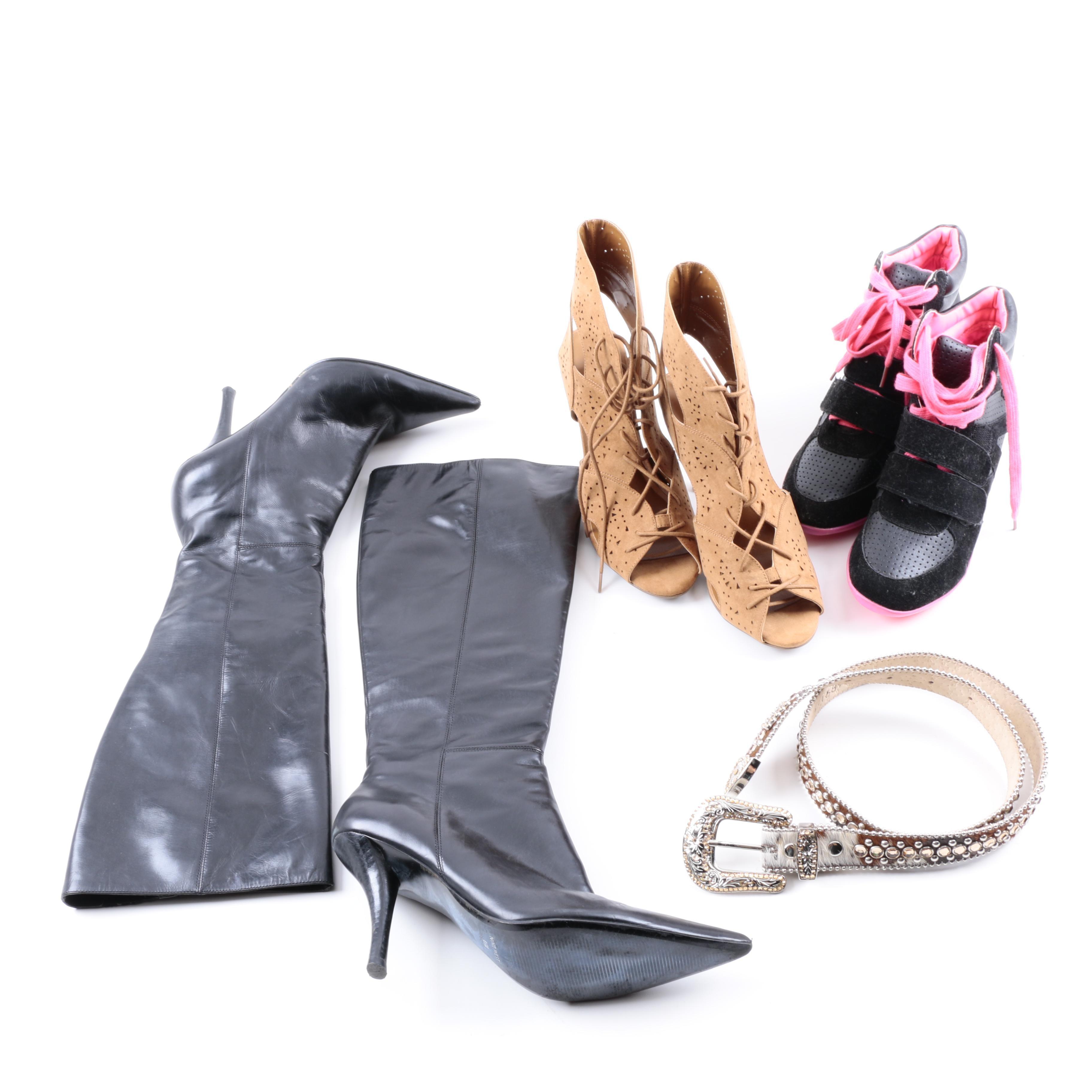 Women's Footwear and BB Simon Belt
