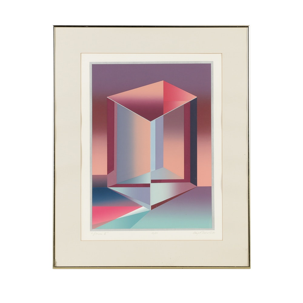 "Signed Limited Edition Serigraph on Paper ""Prism II"""