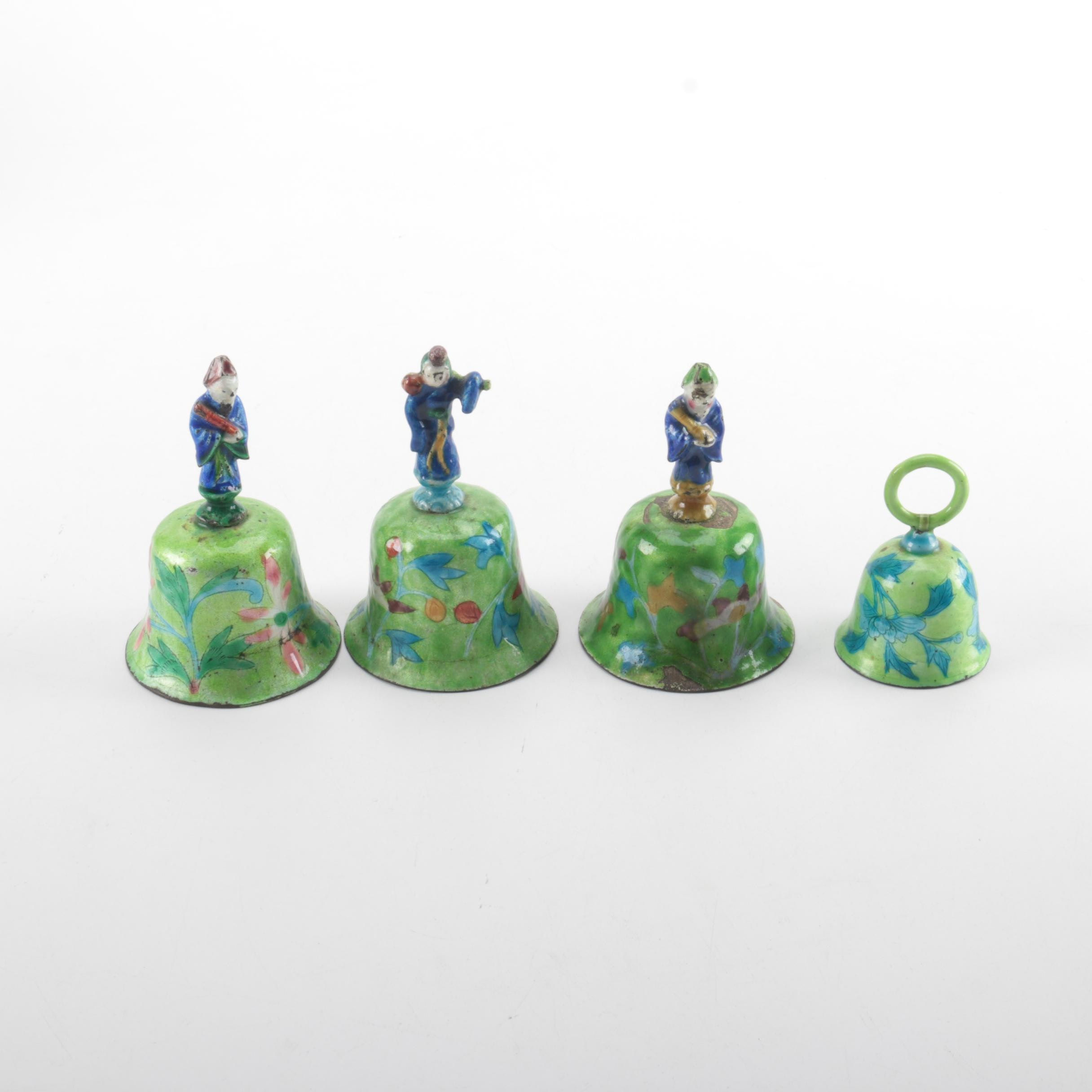 Chinese Decorative Enameled Metal Bells