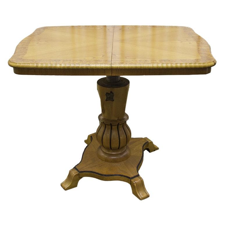 Biedermeier Style Pedestal Dining Room Table