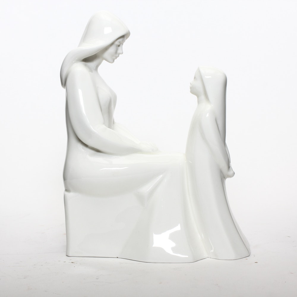 Royal Doulton Mother and Daughter Statue