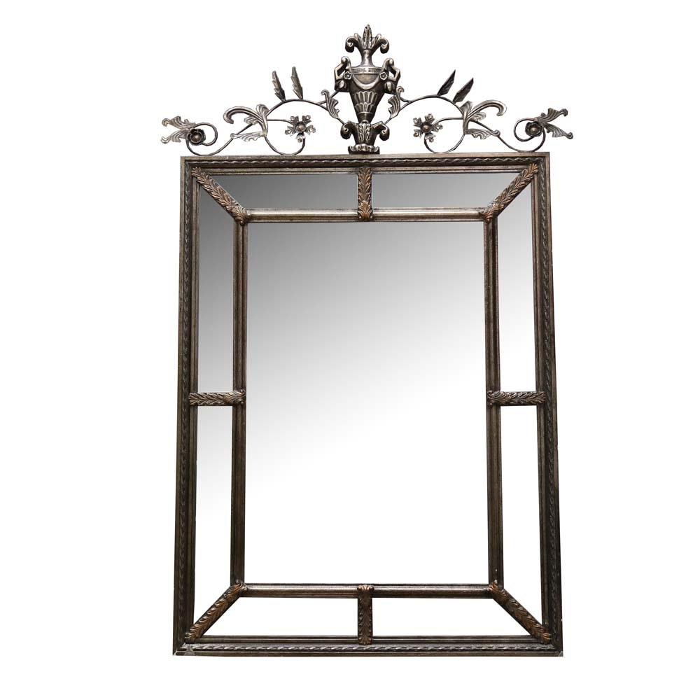 Large Adam Style Beveled Wall Mirror