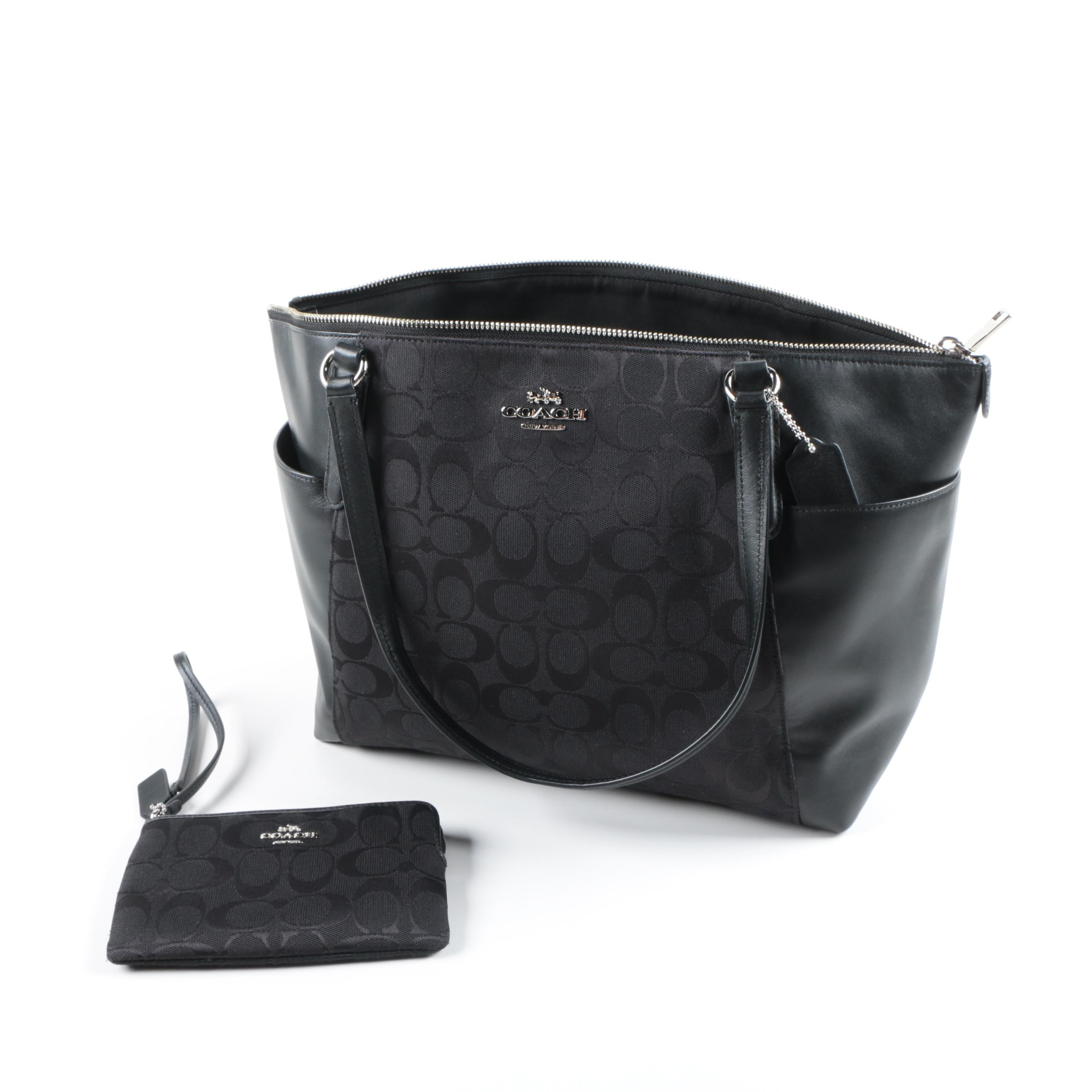 Coach Signature Ava Tote with Matching Wristlet