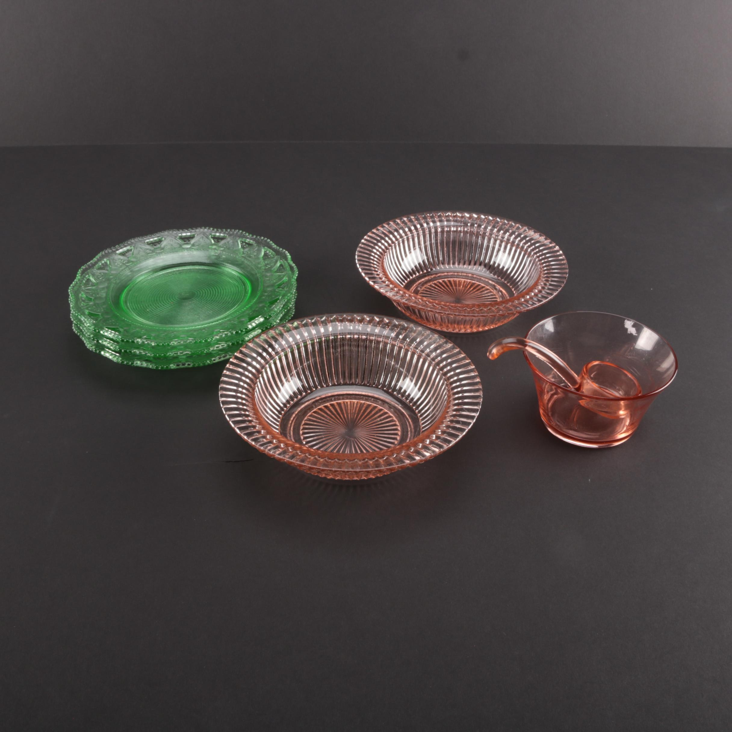 Vintage Depression Glass Tableware
