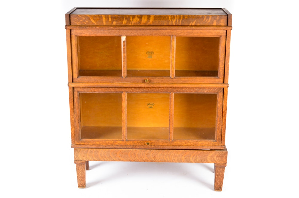 vintage oak barrister bookcase by macey