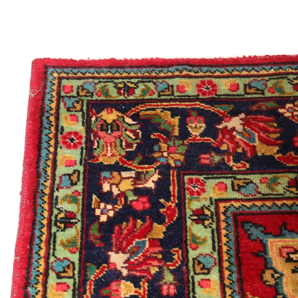 Large Hand-Knotted Persian Tabriz Wool Area Rug