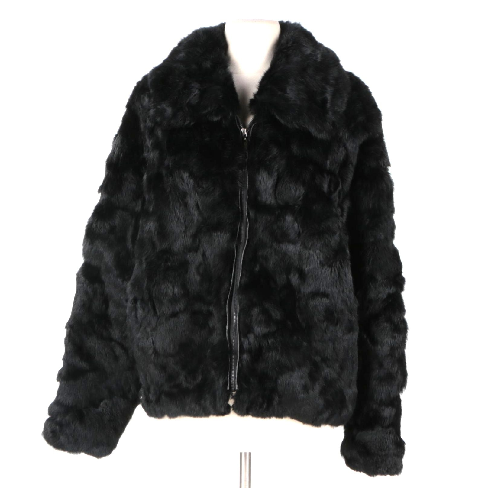 Arielle Dyed Rabbit Fur Jacket