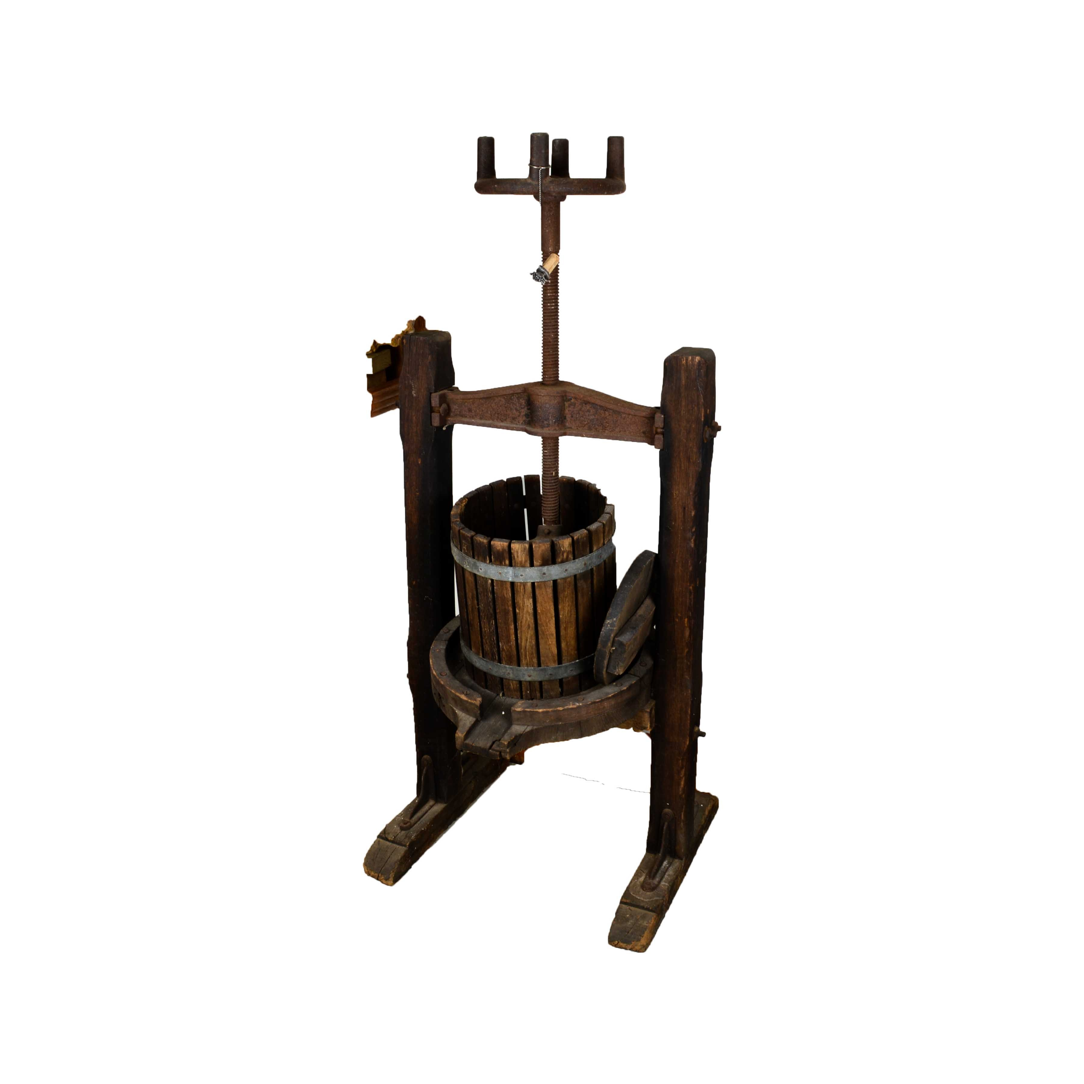 Vintage Wood Wine Press