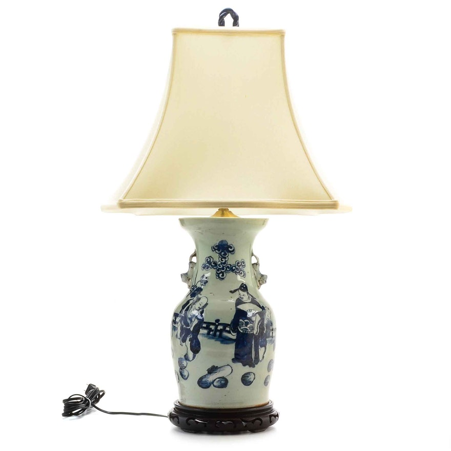 Blue And White Chinese Vase Lamp Ebth