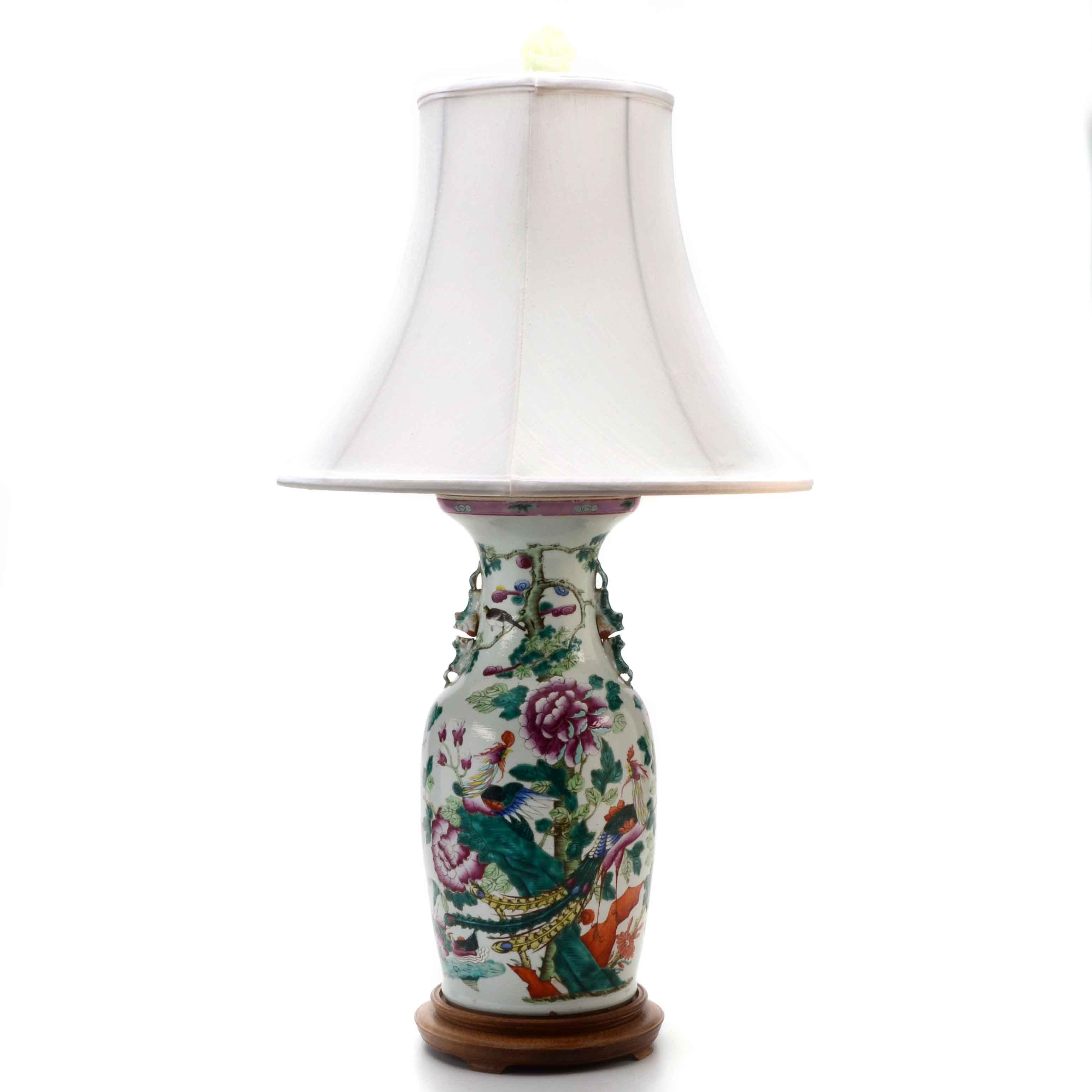 Chinese Porcelain Vase Lamp