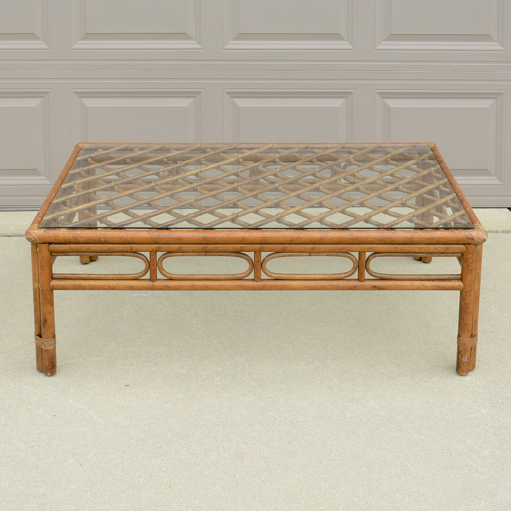 Norwalk Glass Top Coffee Table