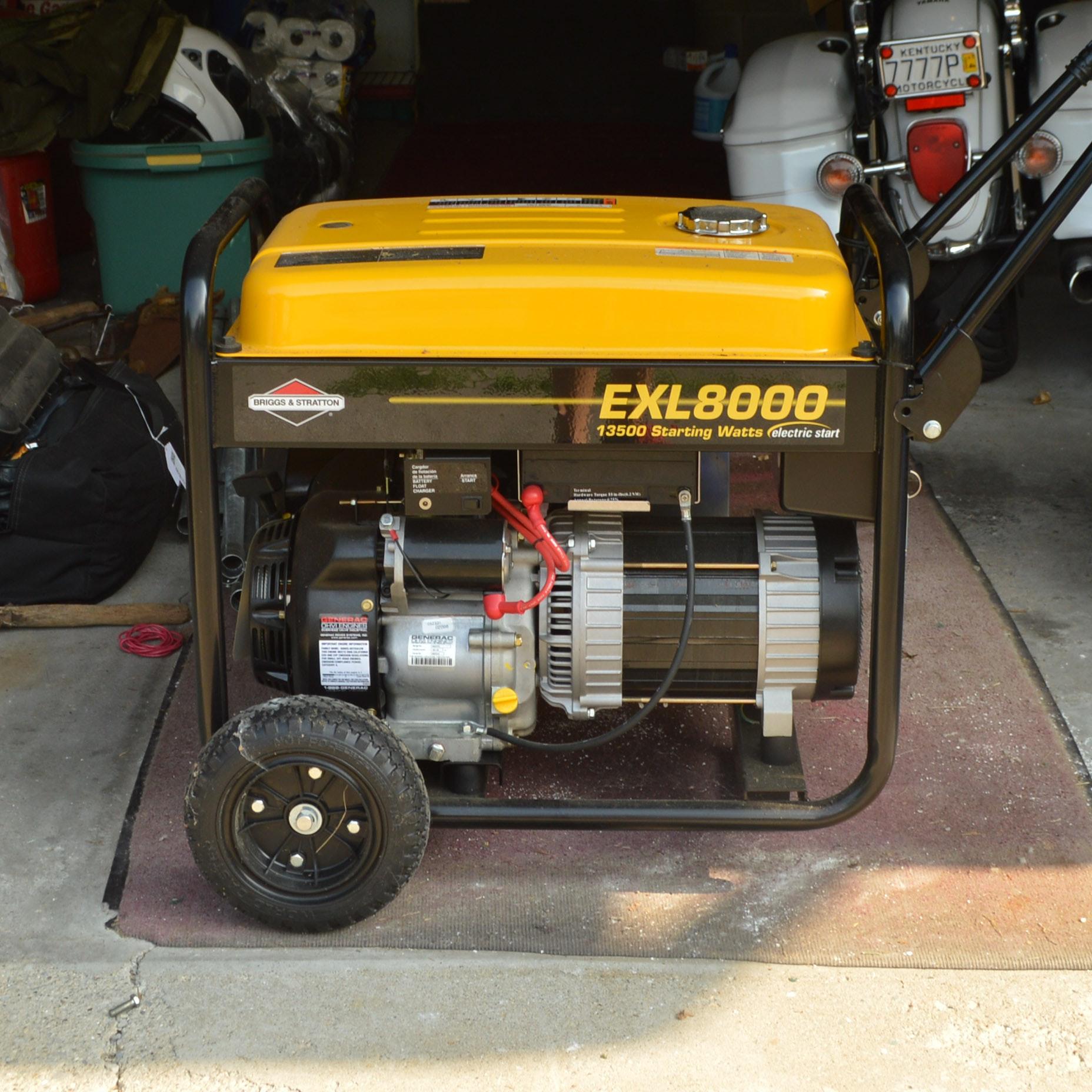 Briggs & Stratton EXL 8000 13,500 Gas Powered Generator