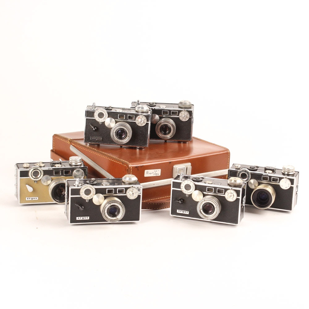 Collection of Vintage Argus C Cameras