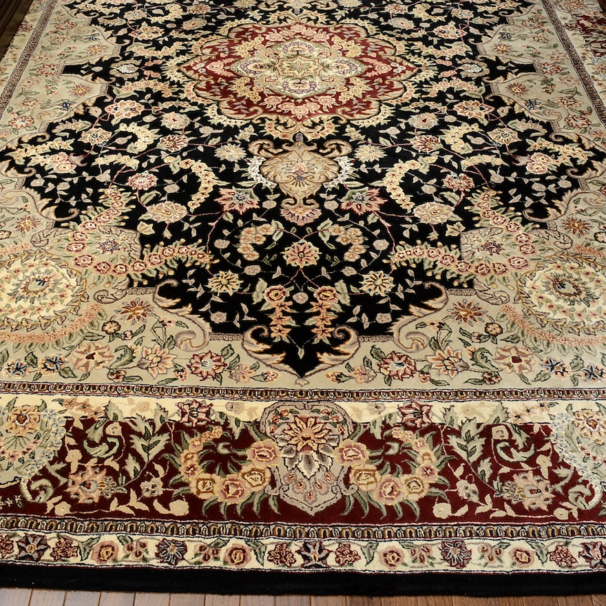 Hand Knotted Indo Persian Obeetee Wool Area Rug Ebth: Hand-Tufted Indo-Persian Area Rug : EBTH