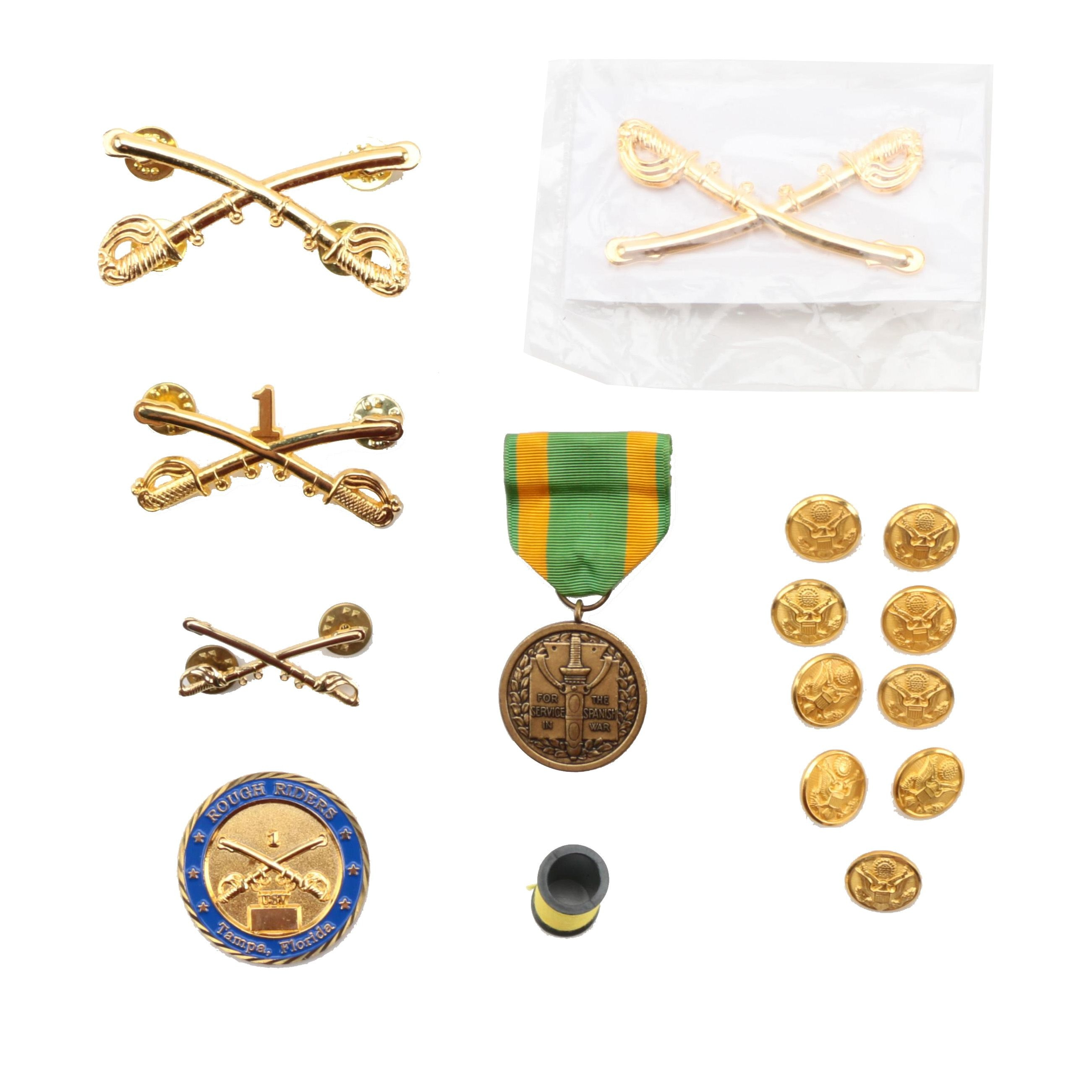 United States Military Medal and Pins
