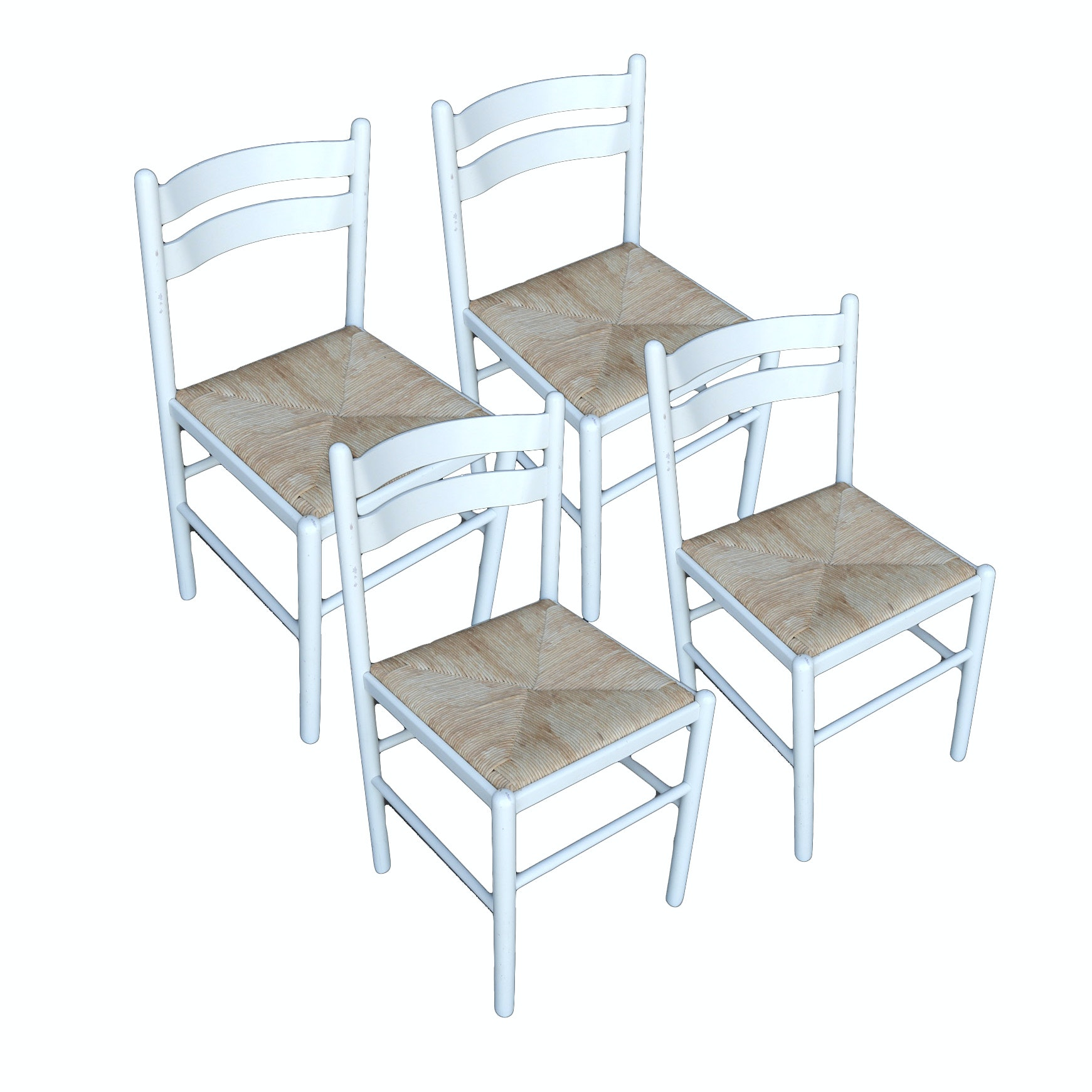 Set of Rush Seat Dining Chairs