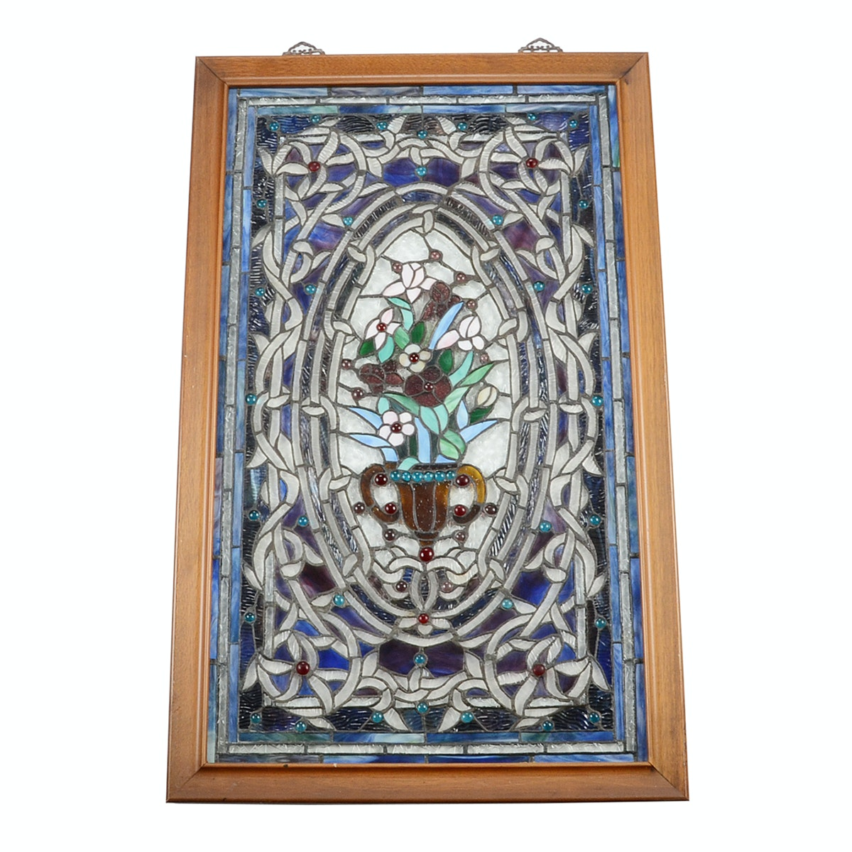 Hand-Crafted Copper Foiled Stained Glass Panel