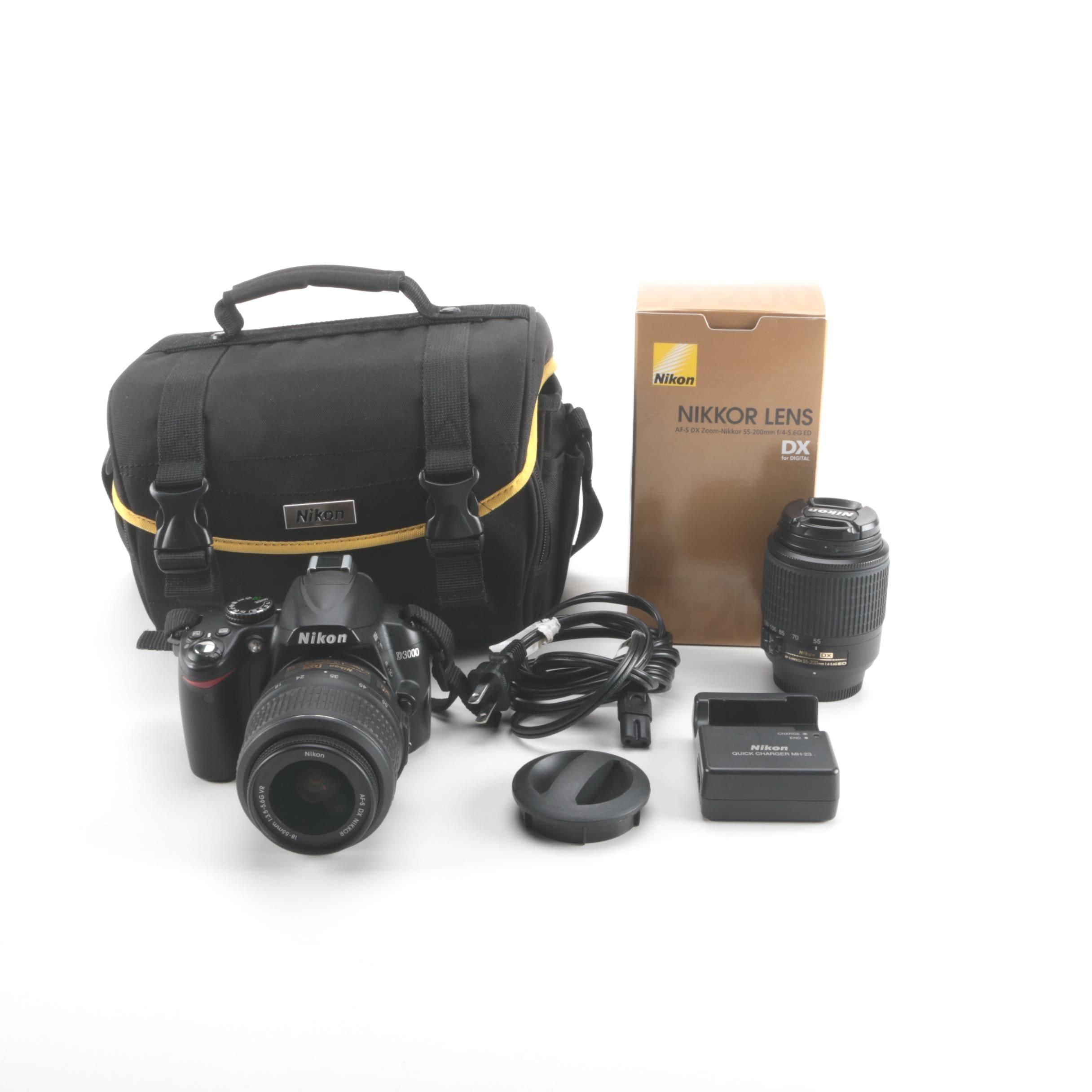 Nikon D3000 DSLR Kit