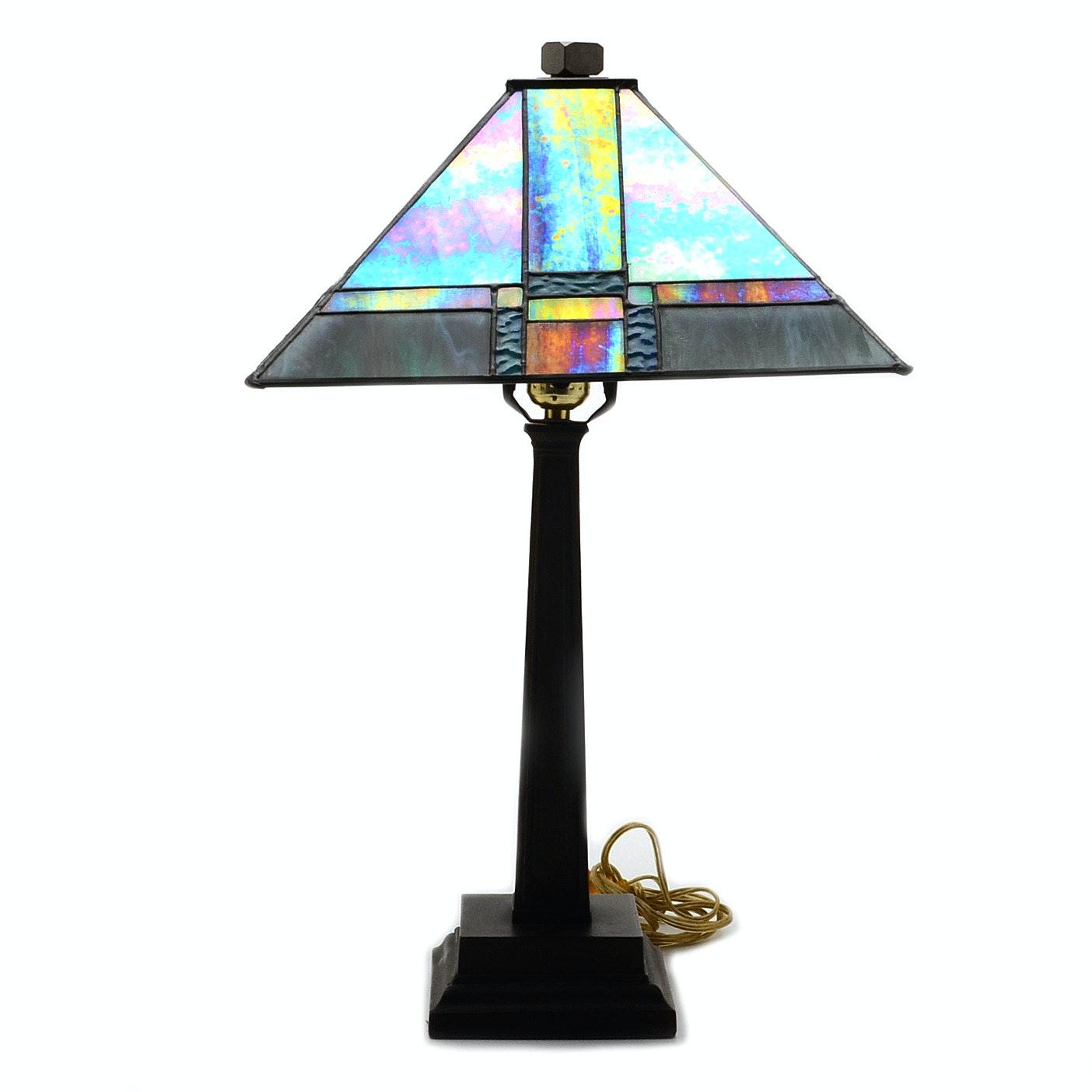"""Dale Tiffany """"Tranquility"""" Mission Style Table Lamp"""